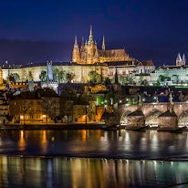Prague by Nikolas Ananggadipa - City,  Street & Park  Night ( lights, canon, czech republic, night, long exposure, prague, city )