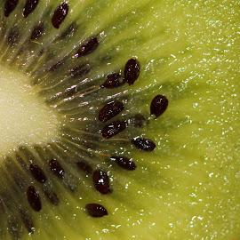 Kiwi by Janet Herman - Food & Drink Fruits & Vegetables ( juicy, fruit, fresh, green, kiwi, food, seeds, fruity )