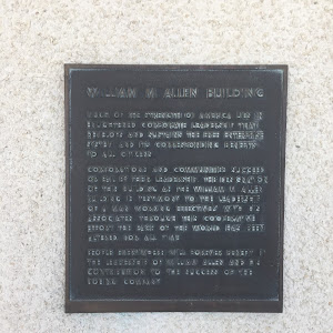 This plaque can be found outside of Building 1 at the Pacific Science Center. It reads: