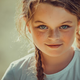 No~Doubt by Limeblu Photography - Babies & Children Child Portraits ( love, girl, braid, whiteshort, beautiful, summer, children, smile )