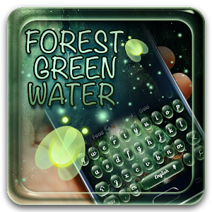 Download Green rain and water drops Keyboard for Android