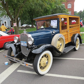 1931 Ford Woodie by Rita Goebert - Transportation Automobiles ( classic cars; antique autos; fords; woodies;;,  )