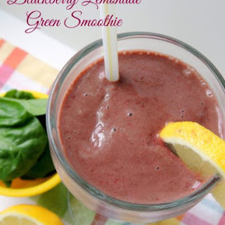Blackberry-Lemonade Green Smoothie