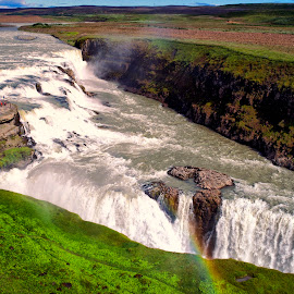 Gullfoss by Stanley P. - Landscapes Waterscapes ( water, waterfall, landscapes, waterscapes )