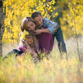Family Love in the fall .... by Kellie Jones - People Family