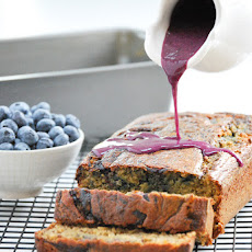 Whole Wheat Banana Bread with Blueberry Glaze