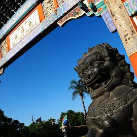 Temple entrance by Eben du Toit - Buildings & Architecture Statues & Monuments