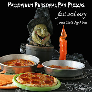 Halloween Personal Pan Pizzas
