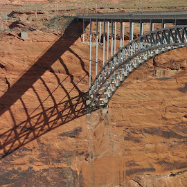 Glen Canyon by Evelyn Conley - Buildings & Architecture Bridges & Suspended Structures ( arizona, red rock, bridge )