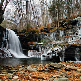 Lewis Falls. by William Hamm - Typography Captioned Photos