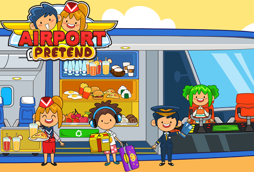 My Pretend Airport - Kids Travel Town FREE For PC