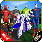Moto Racing Superhero Games Impossible Bike Stunts Icon