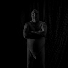 self nude of a fat man 3 by Tim Hauser - Nudes & Boudoir Artistic Nude ( fine art photography, artistic nude photography, fine art, artistic nude, tim hauser photography )