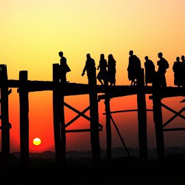 Sunset by Aung Kyaw Soe - People Street & Candids