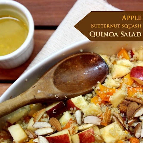 APPLE, BUTTERNUT SQUASH & QUINOA SALAD + HONEY MUSTARD DRESSING