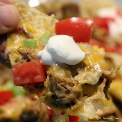 Simple Crock Pot Chicken Nachos