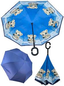 """Зонт """"Животные"""" Леопард, синий"""