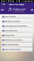 Screenshot of Affinity Plus Mobile Banking