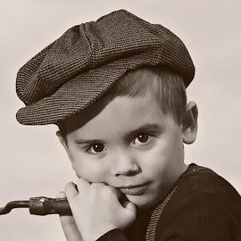 Once upon a time by Sheila Onkst - Babies & Children Child Portraits ( portrait., vintage, black&white,  )