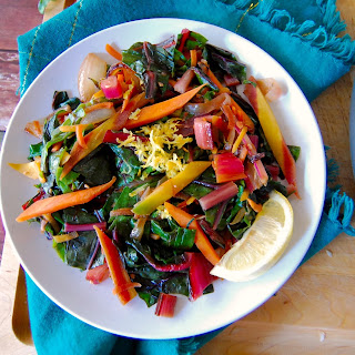 Rainbow Chard and Carrot Hash