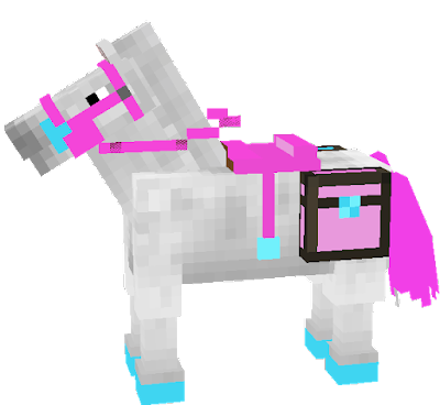 A Very Pink and Blue Horse