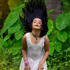 Hairs Up by Abhiraj Krishna - Babies & Children Children Candids ( child, girls, creative, nature, baby )