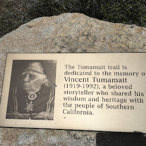 The Tumamait trail is dedicated to the memory of Vincent Tumamait (1919-1992), a beloved storyteller who shared his wisdom and heritage with the people of Southern California.