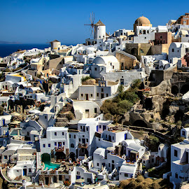 Beautiful Oia by Ann J. Sagel - Buildings & Architecture Homes ( ann j sagel, greece, oia, santorini )