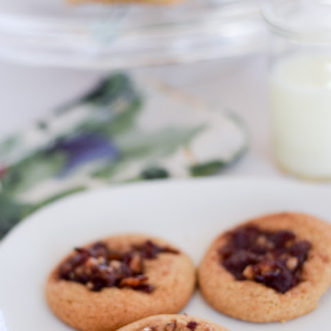 Delicious Thumbprint Date Nut Cookies