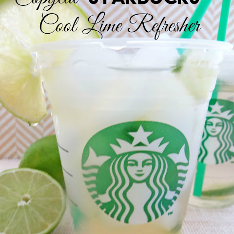 Copycat Starbucks Cool Lime Refresher