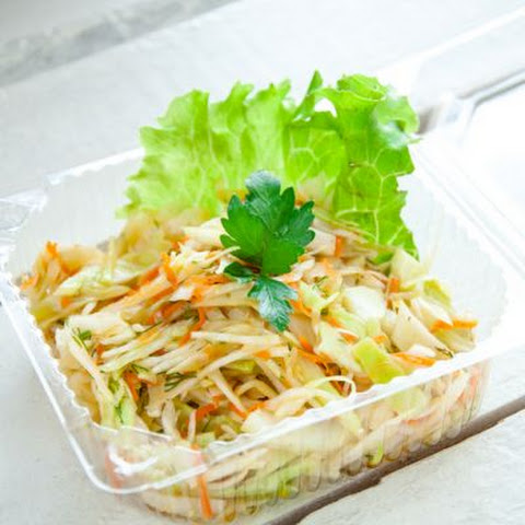 Asian-Inspired Carrot, Cabbage and Sprout Salad