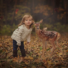 Fall Friends by Chantelle Heiskell - Babies & Children Child Portraits