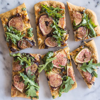 Three Cheese Fig and Onion Pizza