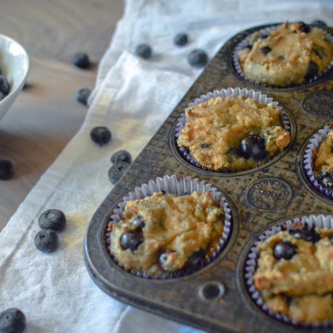 Paleo Blueberry Banana Muffins