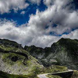 Transfagarasan road by Mikaela Dana - Landscapes Mountains & Hills ( clouds, mountains, transfagarasan, outdoor, romania, road, nikon, landscape )