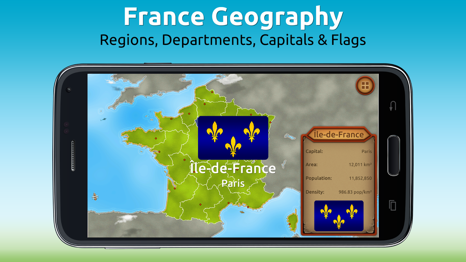 GeoExpert - France Geography Screenshot