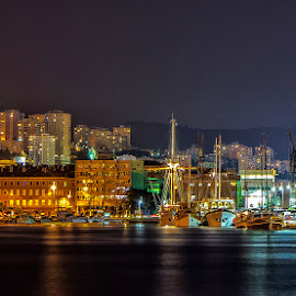 city, port, night by Eseker RI - City,  Street & Park  Vistas (  )