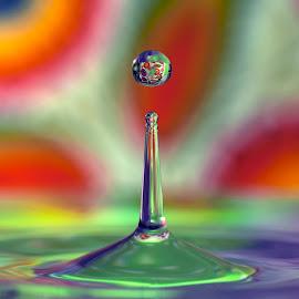 ... by Hale Yeşiloğlu - Abstract Water Drops & Splashes ( water, liquid, drop, liquid art, drops )