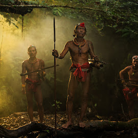 Hunting Time by Henry Kurniawan - People Portraits of Men ( environment, indonesia, tribe, mentawai, mood, journey, siberut, people, emotion )