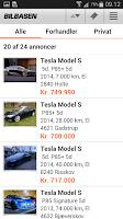 Screenshot of BilBasen – køb brugte biler