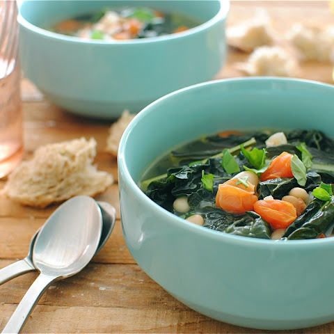 Dinosaur Kale, Tomato and White Bean Soup