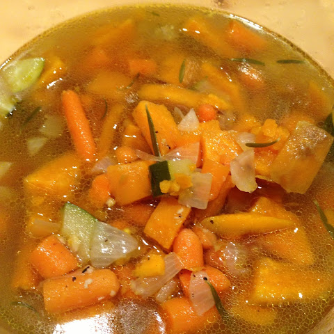 Chicken Provencal Soup with Carrots, Zucchini and Sweet Potatoes ...