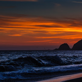 A Golden State Of Mind by Jim Moon - Landscapes Beaches ( southern california, whisper river photography, pacific ocean, part of point mugu state park, the pacific shore, jim moon, thornhill broome beach )