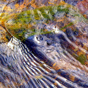 Brook Ripple Reflections by Carol Milne - Abstract Fine Art