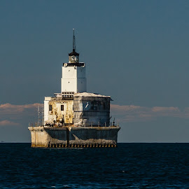 Lake Michigan Lighhouse by Donna Sparks - Buildings & Architecture Decaying & Abandoned ( lake michigan, lighthouse, decay, abandoned, water,  )
