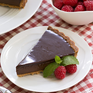 Ganache Topped Chocolate Tart