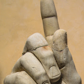Roman Hand by Andrew Moore - Buildings & Architecture Statues & Monuments
