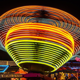 Stripes by Roy Walter - City,  Street & Park  Amusement Parks ( lights, amusement park, night, county fair, fair )