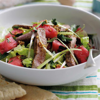 Sticky Lamb, Sesame And Watermelon Salad