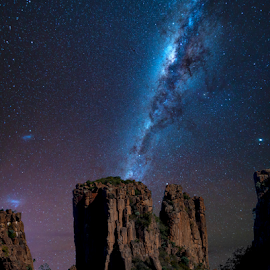 Valley of Desolation by Clive Wright - Landscapes Starscapes ( sky, milky way, mountains, bush, night, stars )
